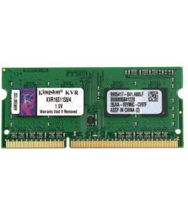 ОЗУ для ноутбука SO-DIMM 4GB/1600 DDR3 Kingston ValueRAM (KVR16S11S8/4)