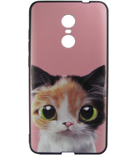Силикон Xiaomi Redmi Note4X 3D Cat anime black 001