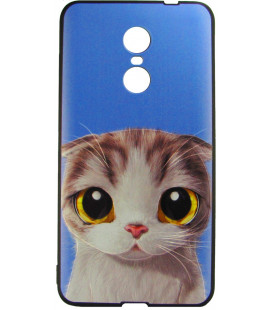 Силикон Xiaomi Redmi Note4X 3D Cat anime black 002