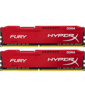 Модуль памяти DDR4 2x8GB/2666 Kingston HyperX Fury Red (HX426C16FR2K2/16) Гар. 99 мес.
