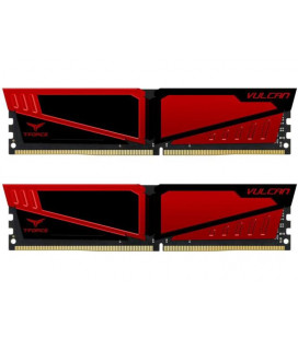 Модуль памяти DDR4 2x16GB/2400 Team T-Force Vulcan Red (TLRED432G2400HC15BDC01) Гар. 99 мес.