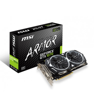 Видеокарта MSI GeForce GTX 1070 ARMOR 8G OC (под заказ 7-10 дней)