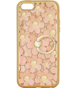 Силикон iPhone 5 peach Flowers Finger holder