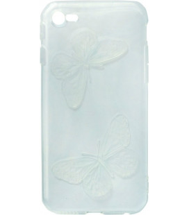 Силикон iPhone 6 light blue Baterfly