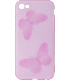 Силикон iPhone 6 violet Baterfly