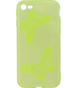 Силикон iPhone 7 lime Baterfly