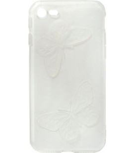 Силикон iPhone 7 white Baterfly