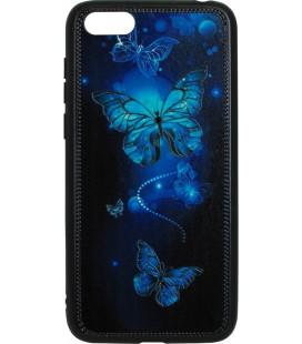 Накладка Huawei Y5 (2018) Butterflies blue Night case